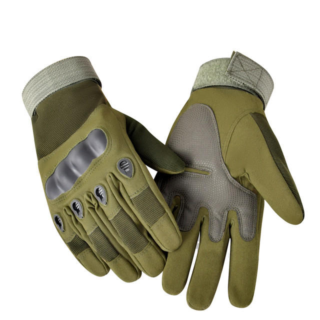 Biker Gloves Men High Quality Tactical Rubber Hard Knuckle With Strong Sewing