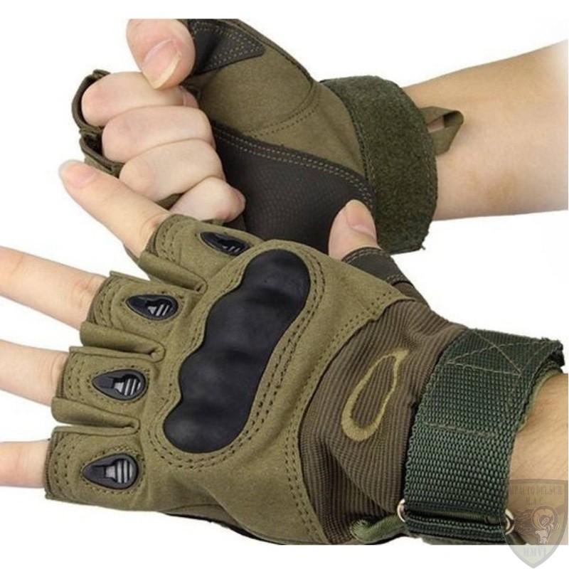Men's Bike Gloves Half Hard Rubber Knuckle Protection Safety Tactical Gloves