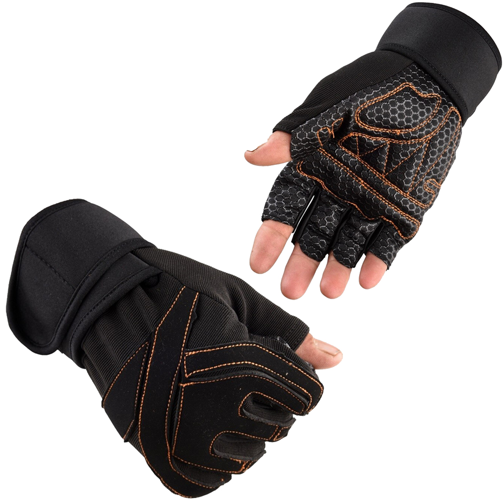 Gym Gloves Adjustable Wrist Size Comfortable Breathable Grip